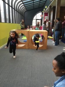 Obstacle course is always a fun part of a birthday party!